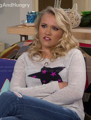 Gabi's star sweater on Young and Hungry
