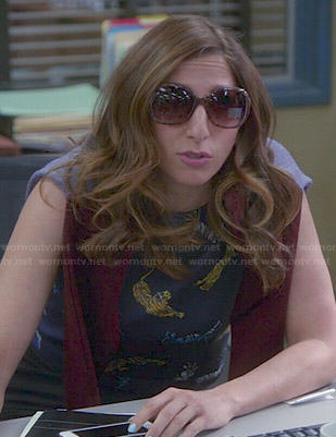 Gina's tiger print top on Brooklyn Nine-Nine