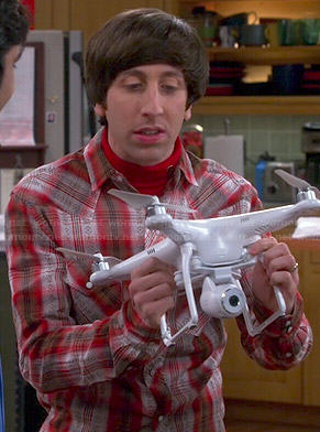Howard's red plaid shirt on The Big Bang Theory