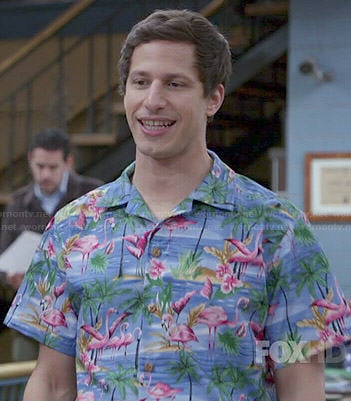 Jake's Hawaiian shirt on Brooklyn Nine-Nine