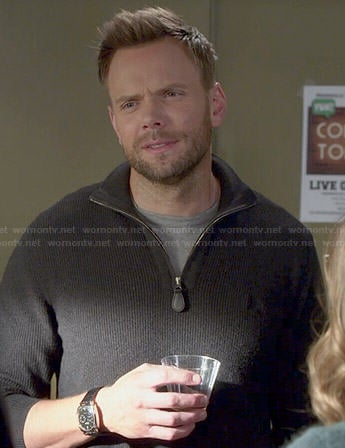 Jeff's grey half-zip sweater on Community