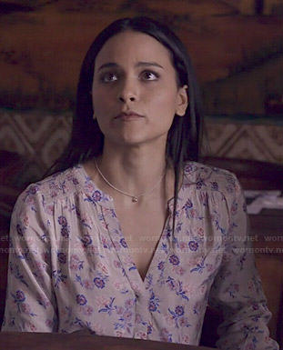 Kara's floral blouse on Agents of SHIELD