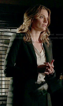 Kate's black perforated blazer on Castle