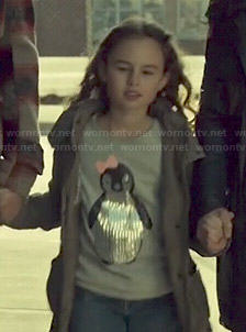 Kira's sequin penguin top on Orphan Black