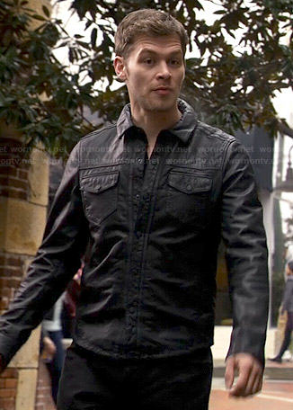 Klaus's black leather shirt on The Originals