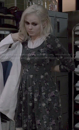 Liv's grey floral dress on iZombie