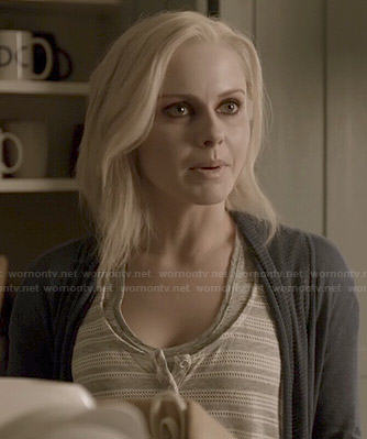 Liv's grey striped tank top on iZombie