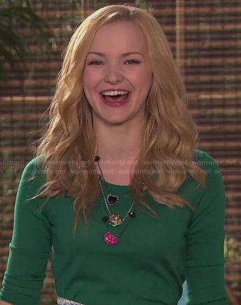 Liv's heart, crown and lips necklace on Liv and Maddie
