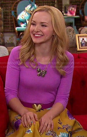 Liv's pink top and yellow floral skirt on Liv and Maddie