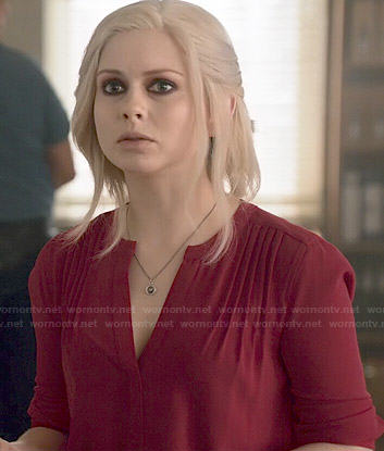 Liv's red pintucked dress on iZombie