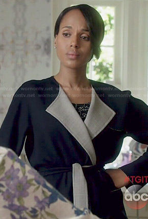 Olivia's two tone coat on Scandal