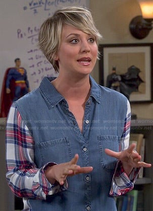 Penny's plaid and denim shirt on The Big Bang Theory