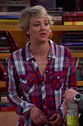 Penny's red plaid shirt on The Big Bang Theory