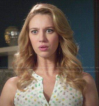 Petra's bug print top on Jane the Virgin