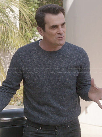Phil's navy heathered sweatshirt on Modern Family