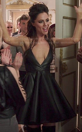 Princess Eleanor's leather dress on The Royals