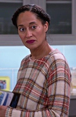 Rainbow's plaid sweater in Black-ish