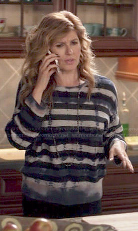 Rayna's painted stripe sweater on Nashville