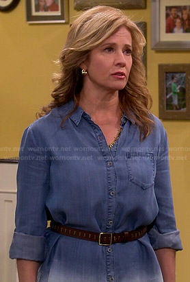 Vanessa's dip dyed chambray shirt on Last Man Standing