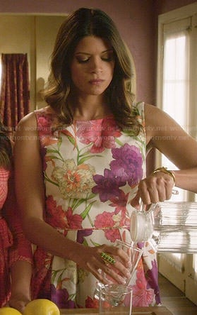 Xiomara's floral dress on Jane the Virgin