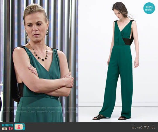 Zara Long Colored Jumpsuit worn by Gina Tognoni on The Young & the Restless
