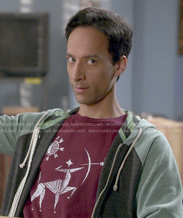 Abed's archer tee on Community