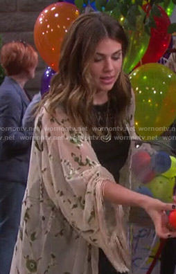 Abigail's floral kimono jacket on Days of our Lives