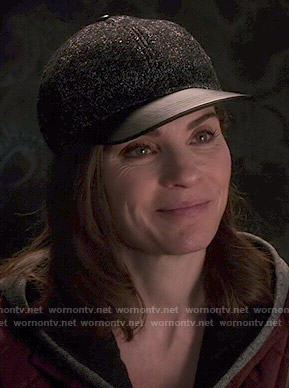 Alicia's leather brim baseball cap on The Good Wife