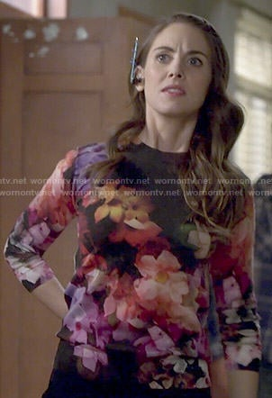 Annie's floral sweater on Community
