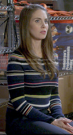 Annie's mixed stripe sweater on Community