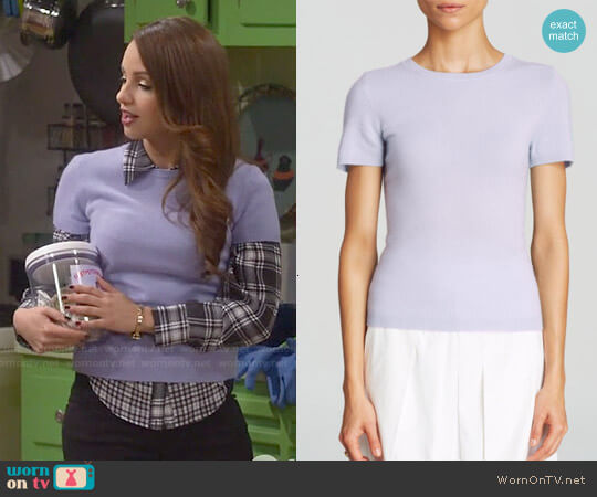 C by Bloomingdale's Cashmere Short Sleeve Sweater worn by Aimee Carrero on Young & Hungry