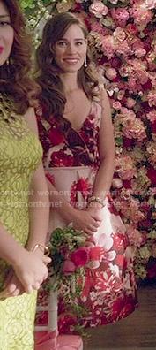 Charlotte's pink floral dress on Revenge