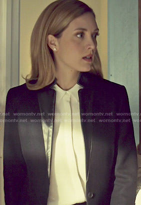 Delphine's black coat with leather collar on Orphan Black