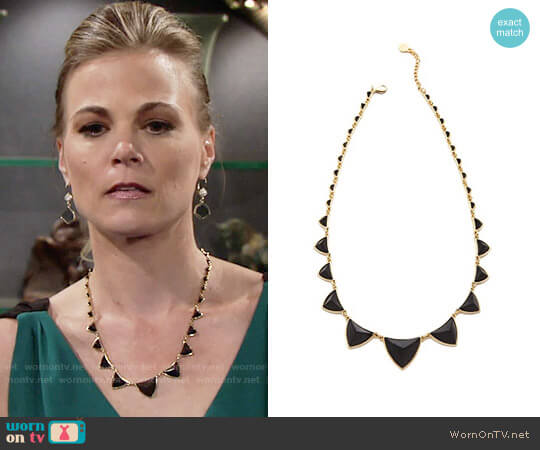 House of Harlow Pyramid Station Necklace worn by Gina Tognoni on The Young & the Restless