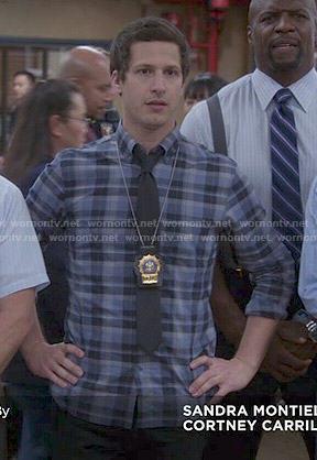 Jake's blue plaid shirt on Brooklyn Nine-Nine