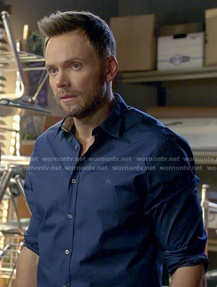 Jeff's blue button down shirt on Community