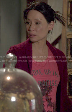Joan's Woke Up in Paradise tee on Elementary