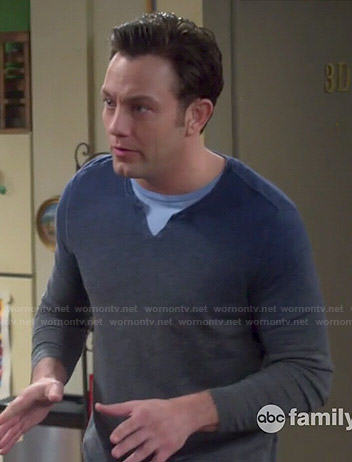 Josh's ombre sweater on Young and Hungry
