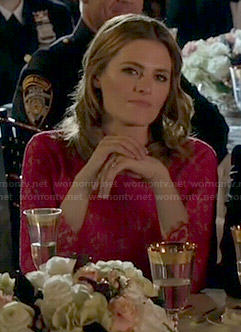 Kate's red lace dress on Castle