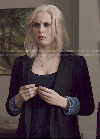 Liv's black textured blazer on iZombie