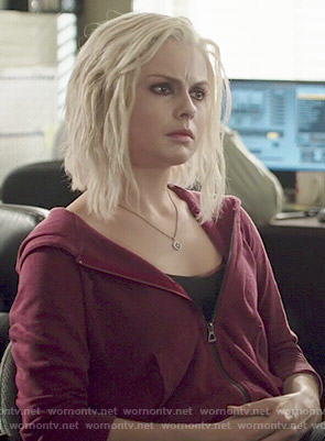 Liv's dark red hoodie on iZombie