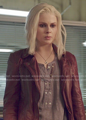 Liv's double button henley top on iZombie