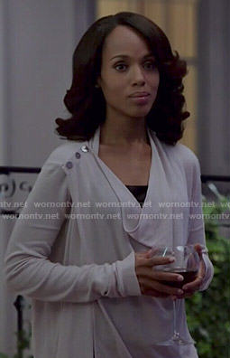 Olivia's shoulder button cardigan on Scandal