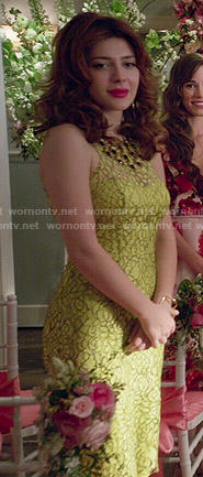 Louise's yellow lace dress on Revenge