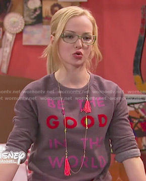 Maddie's Be The Good In The World sweatshirt on Liv and Maddie