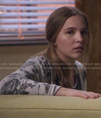 Maddie's rose print hoodie on Nashville