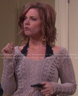 Melanie's sweater with lace up back on Days of our Lives