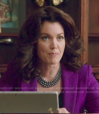 Mellie's purple blazer on Scandal