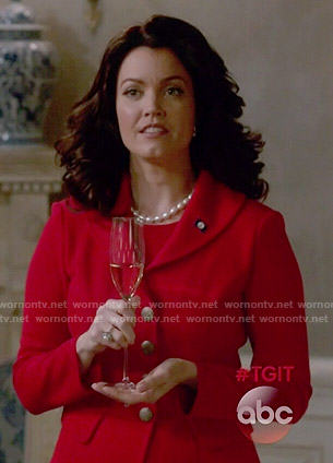 Mellie's red blazer on Scandal