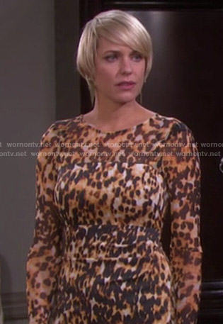 Nicole's leopard print dress on Days of Our Lvies